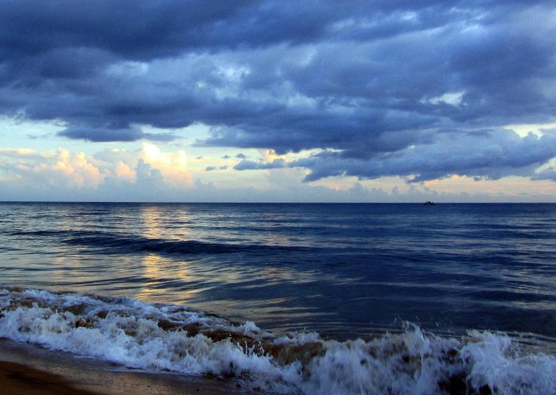 Photo of our beach taken by a guest