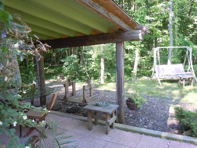 Hoblet's porch, totally private, and your own forest