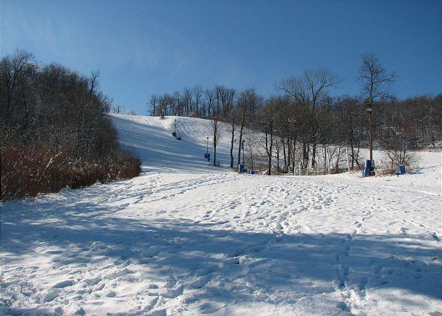 Ski Slopes 50 Yards from House