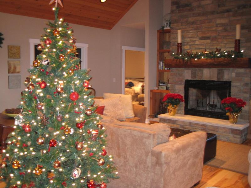 No need to decorate!  Just settle in for a relaxing holiday visit in Pure Michigan.