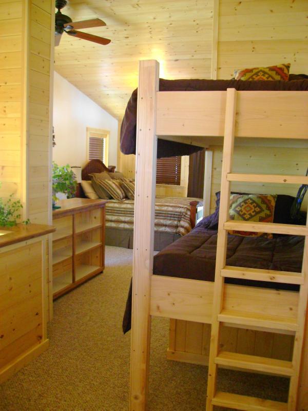 view of second floor loft style bedroom
