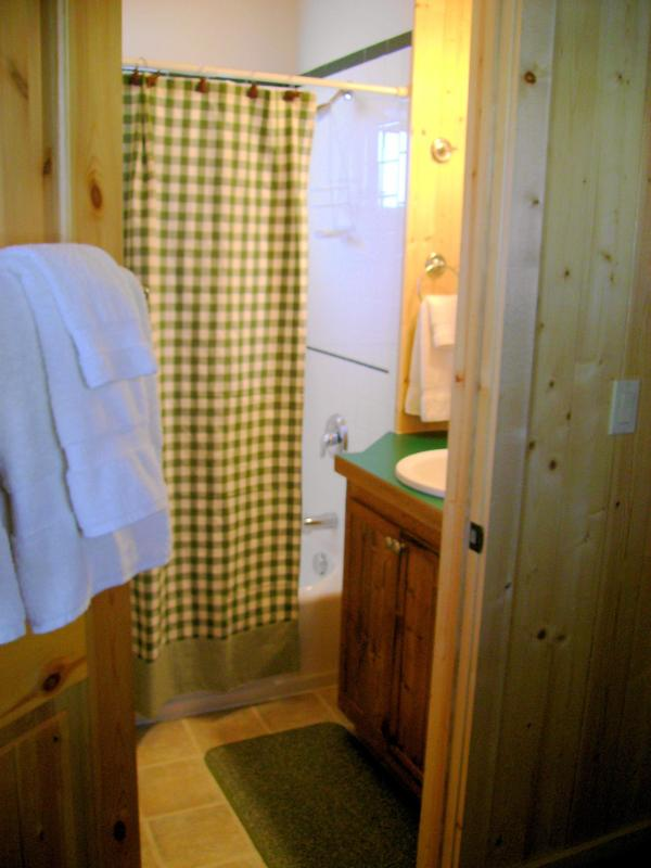 second floor bathroom tub/shower
