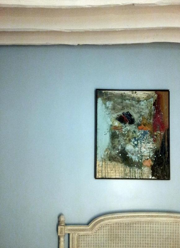 Klassische Kopfteil und moderne Malerei