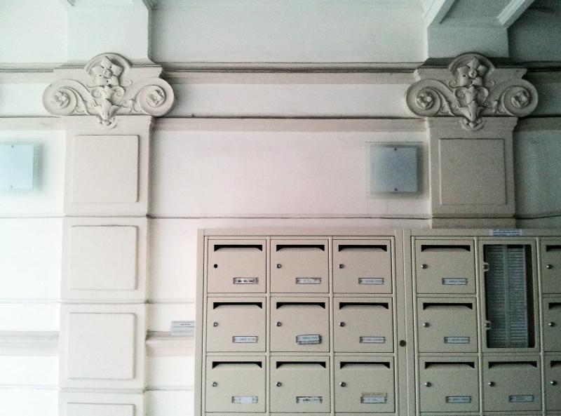 Postfach in das Apartment Gebäude und Lobby