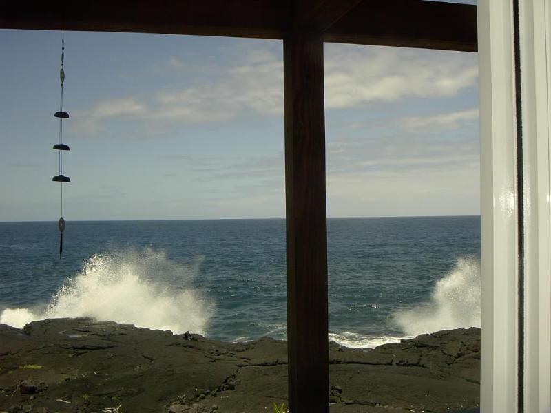 Watch the waves and whales from the master bedroom balcony at Hale Mar