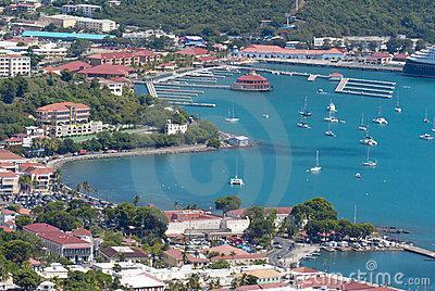 La ciudad de Charlotte Amalie