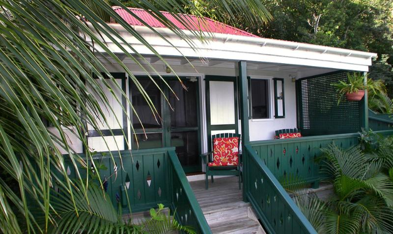 Exterior of Windwardside Guest Cottage