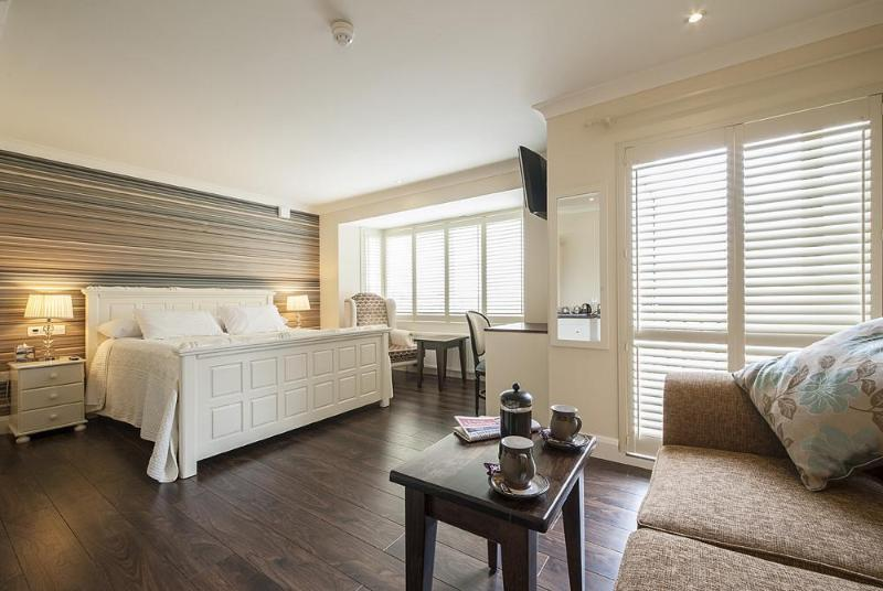 Master suite with bay view and own private balcony.