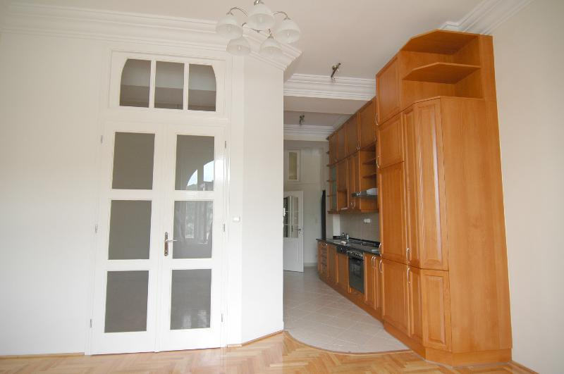 Kitchen and Bedroom door.