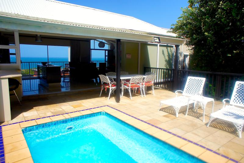 Pool & Terrace & View to Ocean at front of House