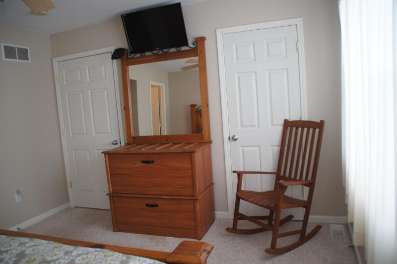 Cable TVs in all 6 Sun House bedrooms.  This is the 32in flat panel TV/DVD in master bedroom.