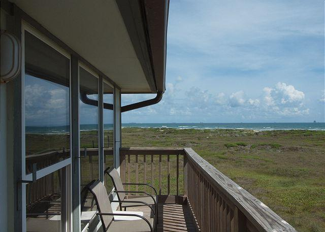 Unobstructed Gulf views from the deck of this unit.