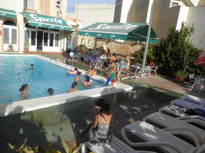 Sun Beds Round the Pool