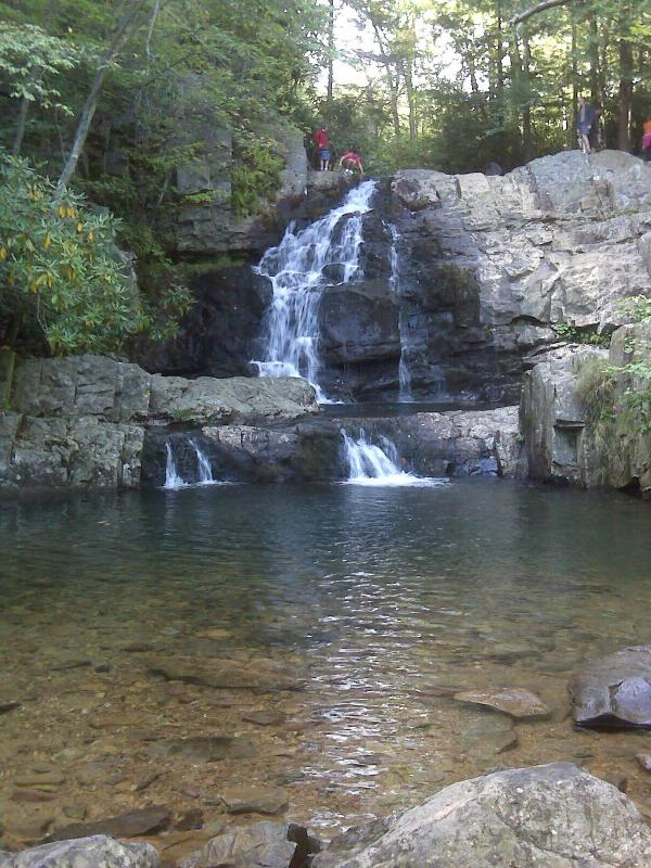 Waterfall at Hickory Run State Park, 30 minutes away
