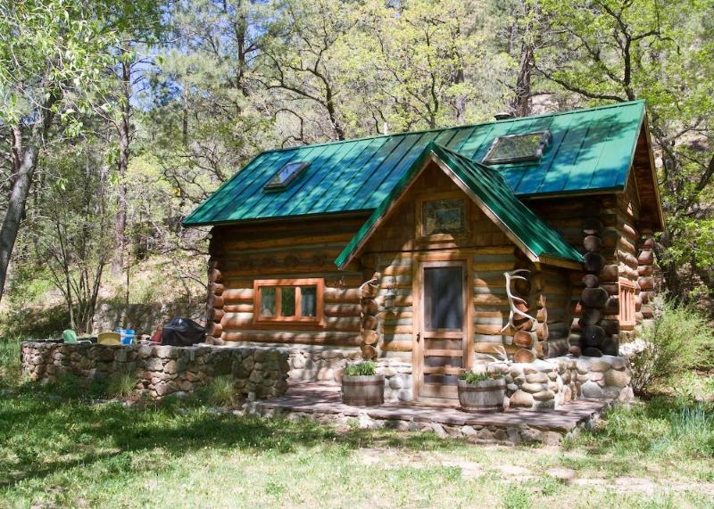 100-year-old, fully restored, full log cabin