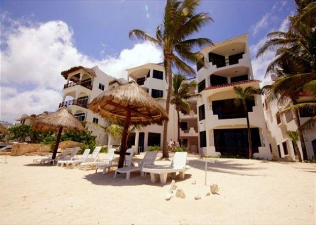 Luna Azul beachfront condos, Half Moon Bay, Akumal, Mexico
