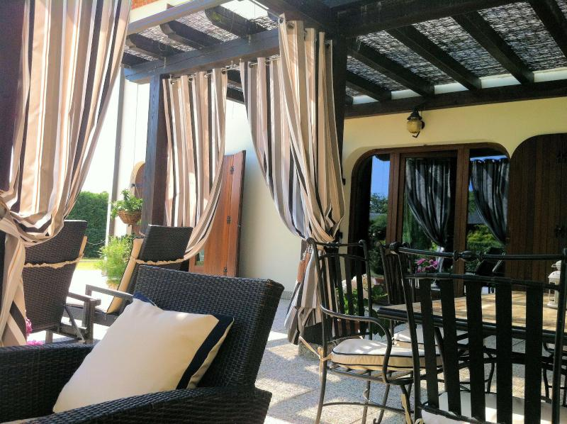 Luxury sun terrace at Villa San Toma