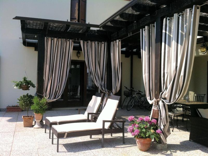 Luxury tanning terrace at Villa San Toma
