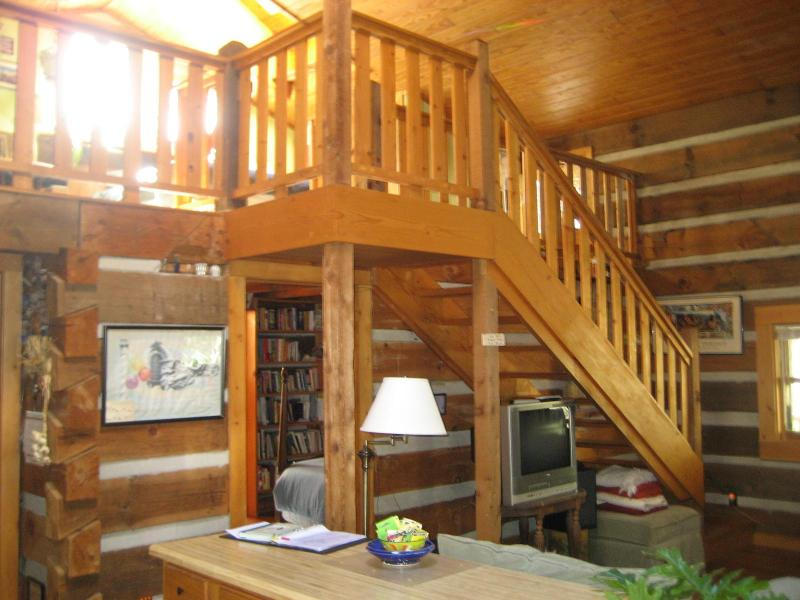 Another view of Living Area & stairs leading to Loft