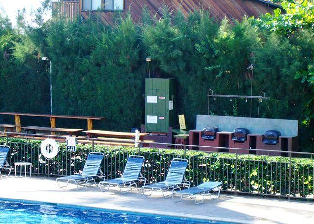 Barbeques and pool area