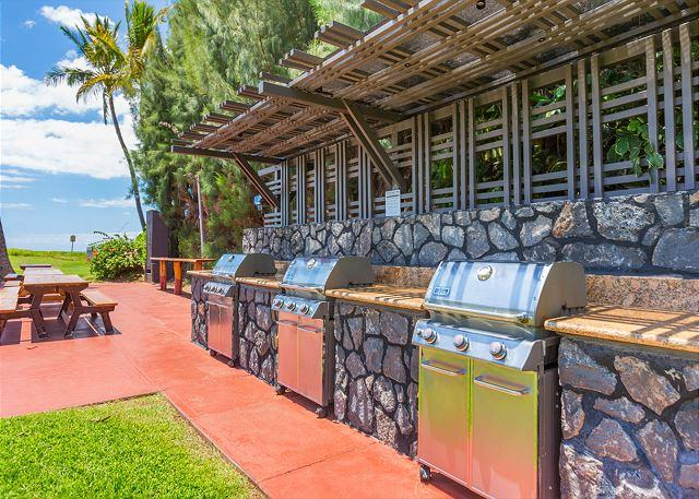 Waiohuli Beach Gas Grills