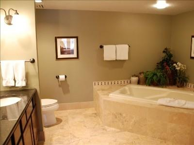 Master and guest bathrooms have tubs and showers