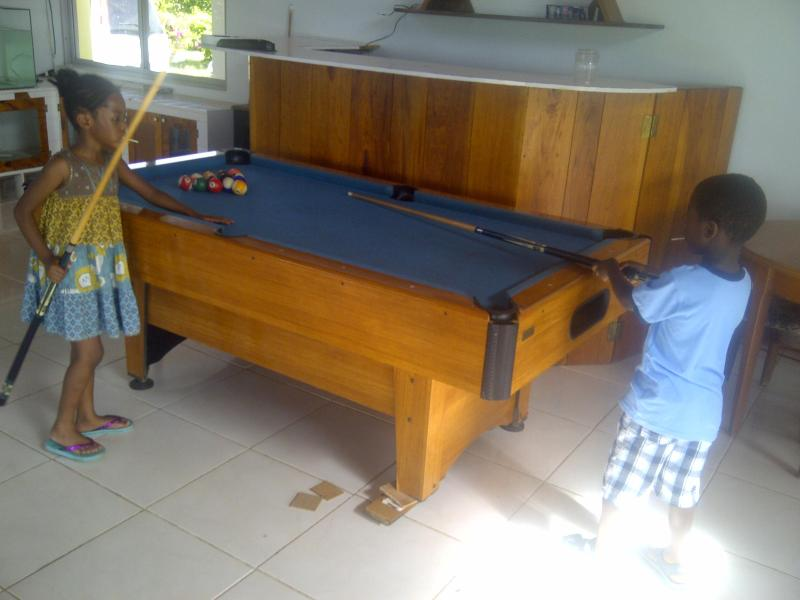 Entertainment area with Pool table, Bar