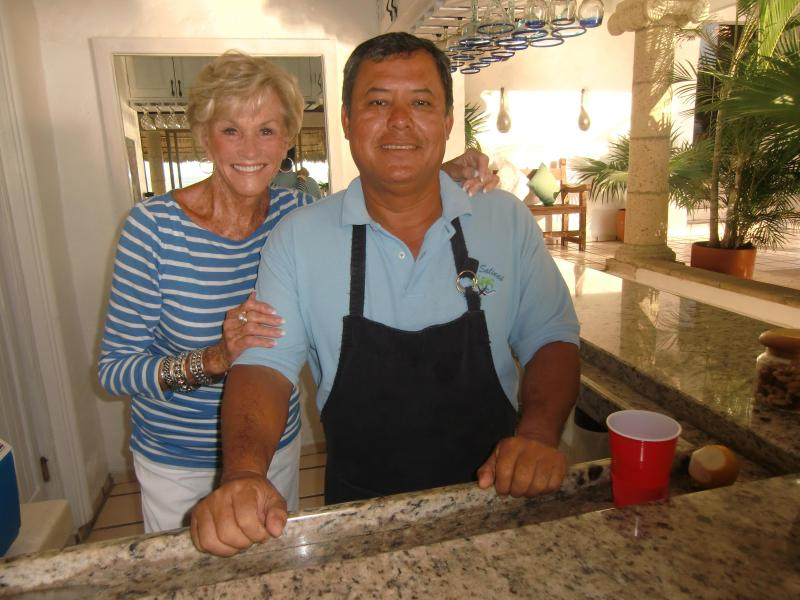 Sally, owner of Casa Salinas Villas, and Juan our Manager