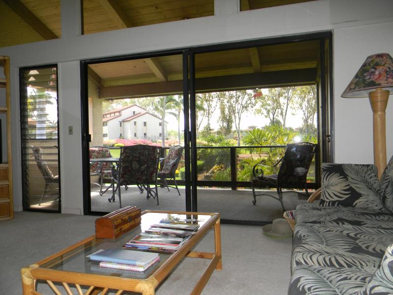 Living area looking out to Lanai