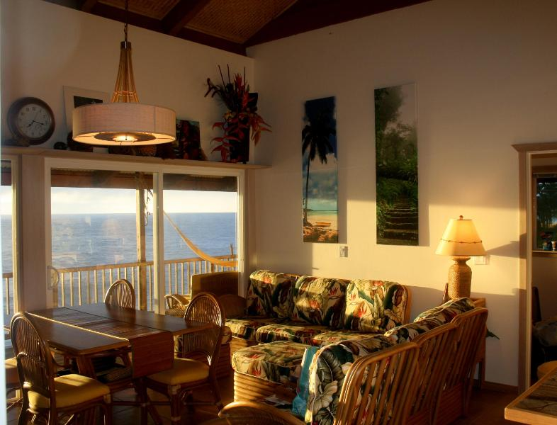 sitting room with the big ocean view
