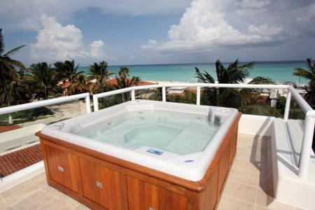 Sun Deck with 6 Person Jacuzzi, Lounge Chairs and Ocean Views