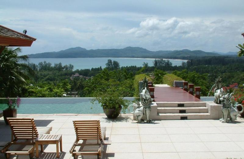 View of Bangtao bay from the pool terrace