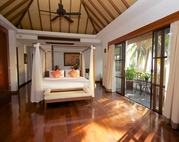 The Master bedroom has a private terrace with wonderful sea views.