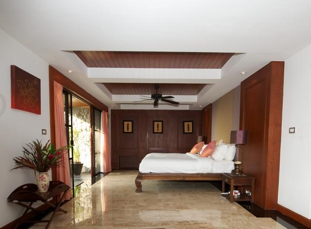 Bedroom 3 has a private terrace and lounge area