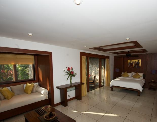 Bedroom 5 has a private garden terrace, lounge area and a lovely indoor garden Spa Massage room