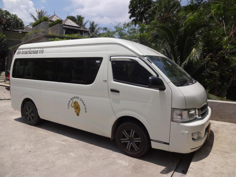 Our 14 seat mini-bus for your use on holiday