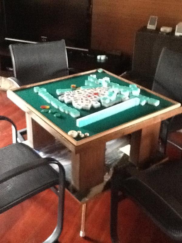 We have two Mahjong tables at the villa