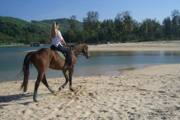 Have an early morning ride on Bangtao beach
