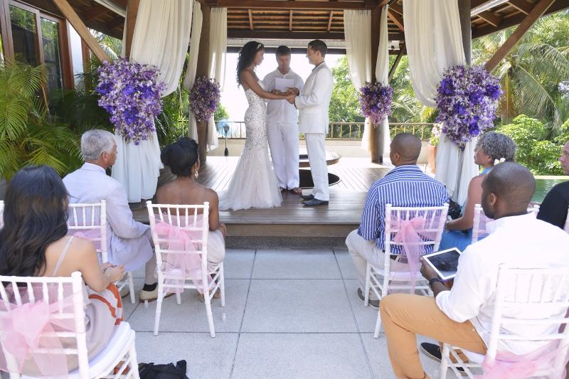 A recent wedding ceremony in the villa