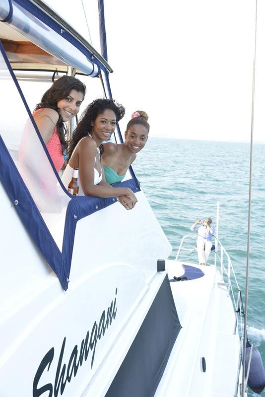 Post wedding cruise on Yacht Shangani, which takes up to 5o guests