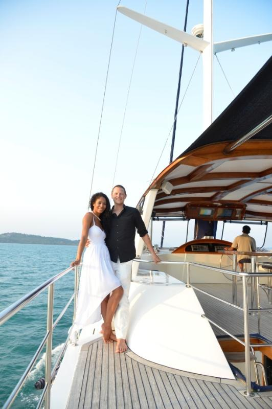 Wedding cruise on Shangani yacht