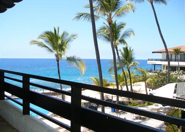 View from the lanai where you will see the most glorious Hawaiian sunsets