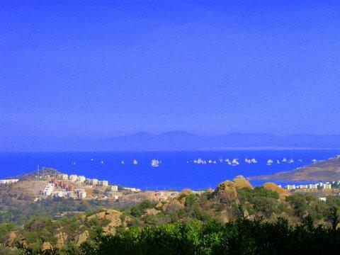 View from house of Bodrum Cup sail race