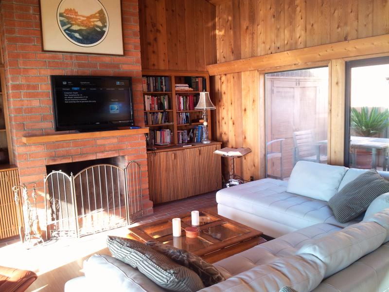 Entertainment:New 55' TV added, (not yet pictured) Living Room, fireplace, library of books, dvds