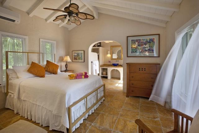 Suite Four (Master Suite) with large private outdoor shower and AC