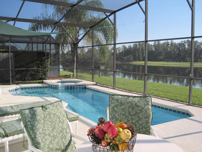 Fabulous pool n 24/7 spa overlooking majestic 14 acre natural fishing lake With natural wildlife.