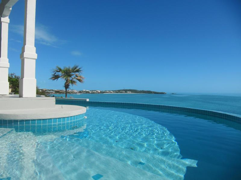 View from your private freeform pool to Sapodilla Bay