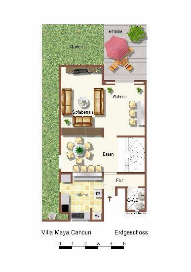 Floorplan Groundfloor Villa Maya