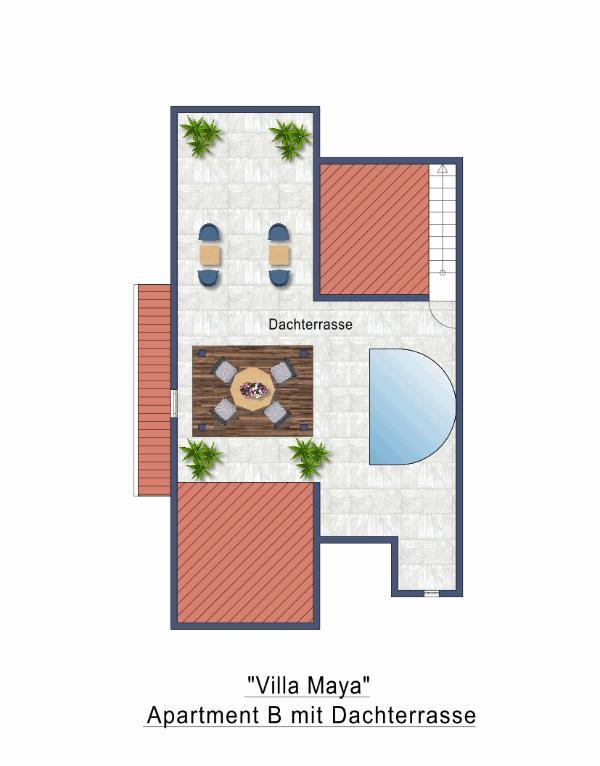Roof Top Terrace Floor Plan