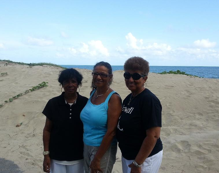 Sisters gather on our beach